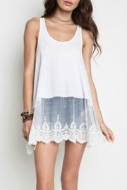 Umgee USA Lace Layering Tank - Front cropped