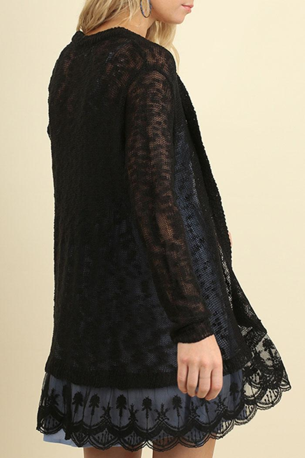 Umgee USA Lace Long Line Cardigan from California by Nadya's ...
