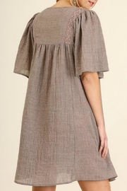 Umgee USA Lace Neckline Dress - Front full body