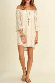Umgee USA Lace Off-Shoulder Dress - Product Mini Image