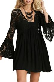 Umgee USA Lace Peasant Dress - Product Mini Image