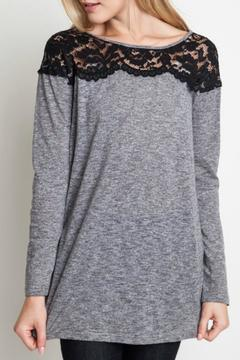 Umgee USA Lace Shoulder Top - Product List Image
