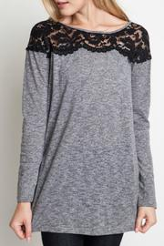 Umgee USA Lace Shoulder Top - Product Mini Image