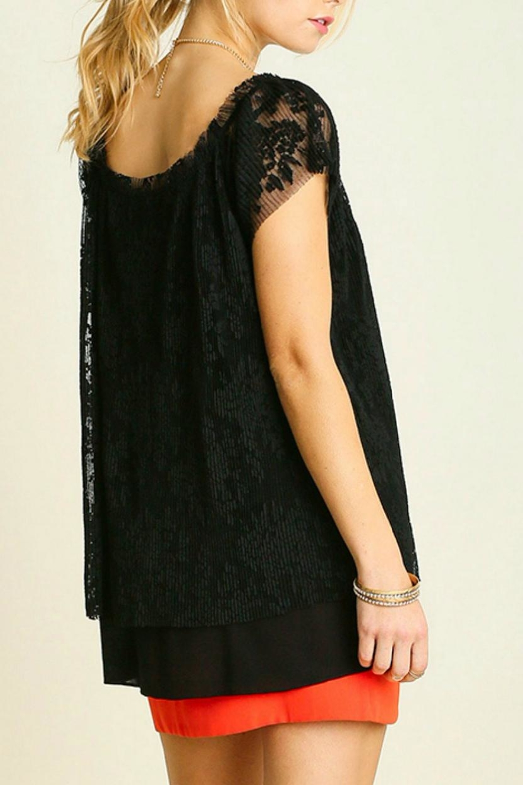 Umgee USA Lace Top - Side Cropped Image
