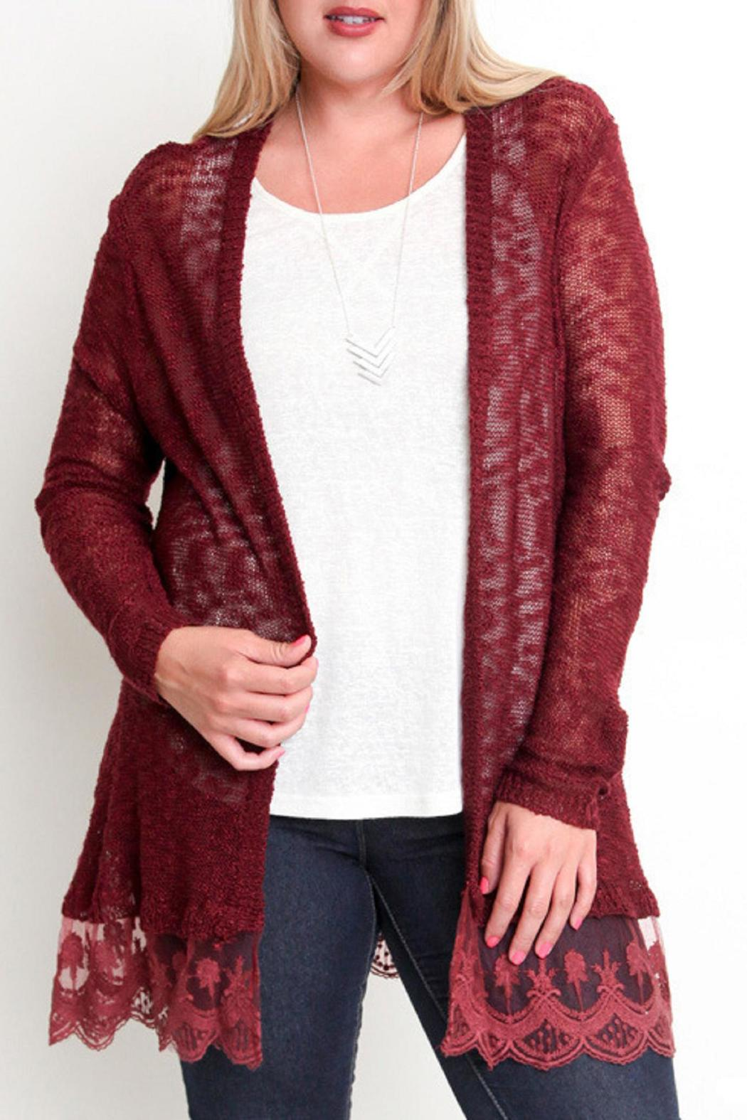 Umgee USA Lace Trim Cardigan from Kansas by Bella Rose Boutique ...