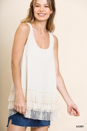 Umgee USA Lace Trim Sleeveless Top - Product Mini Image