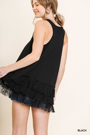 Umgee USA Lace Trim Sleeveless Top - Front full body