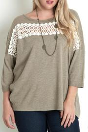 Umgee USA Lace Trim Top - Product Mini Image