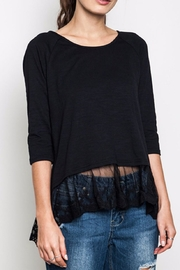 Umgee USA Lace Trim Tunic Top - Front cropped
