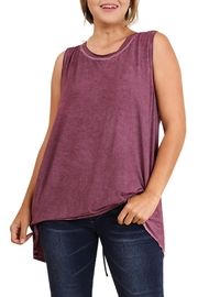 Umgee USA Lace Up Tank Top - Front cropped