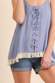 Umgee USA Lace-Up Tank Top - Front cropped