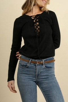 Shoptiques Product: Lace Up Thermal