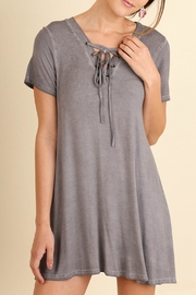 Umgee USA Lace Up Tunic - Front cropped