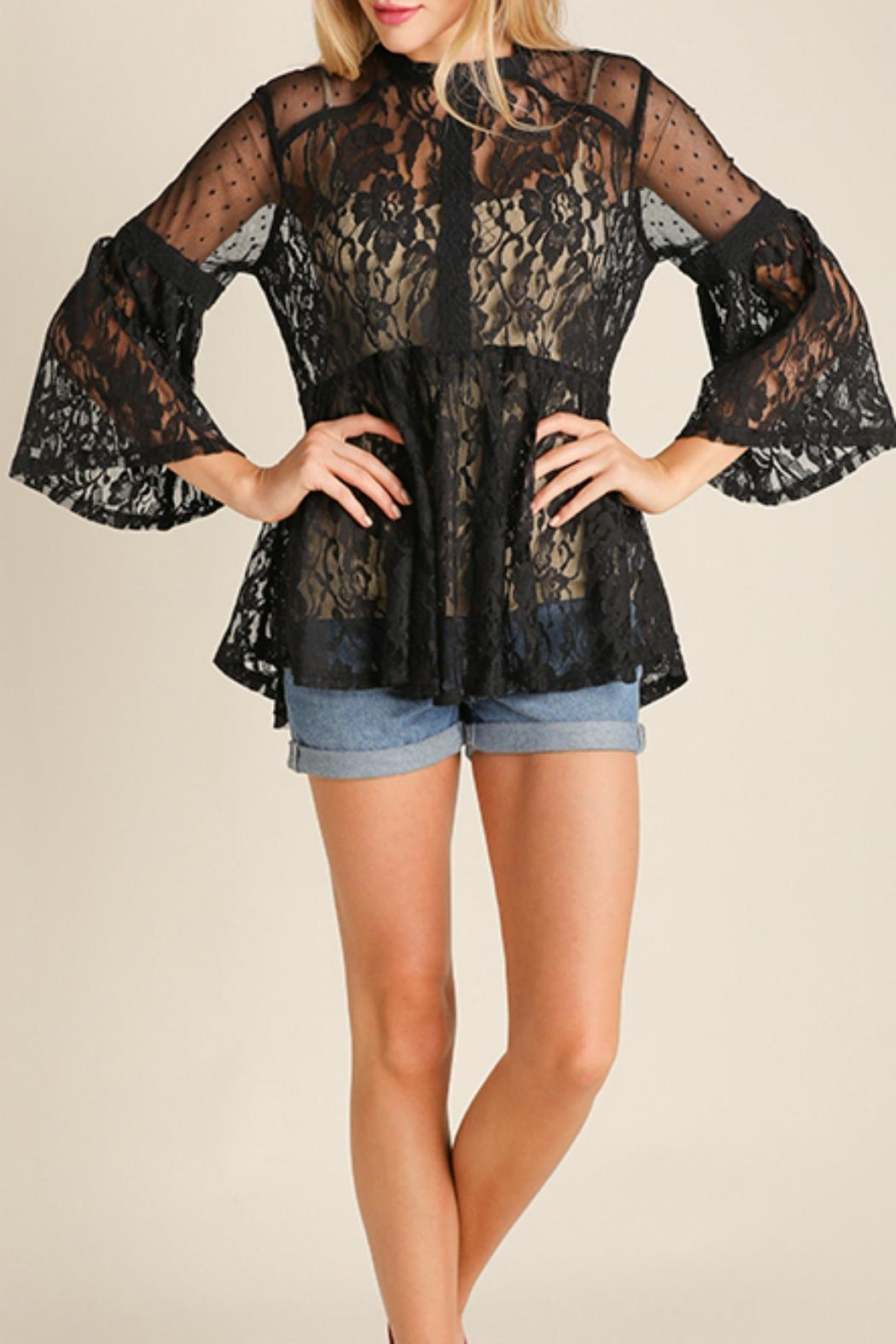 Umgee USA Lace Vintage Bohemian Top - Front Cropped Image
