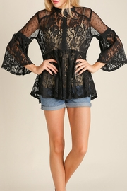 Umgee USA Lace Vintage Bohemian Top - Front cropped