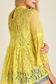 Umgee USA Lace Vintage Bohemian Top - Front full body