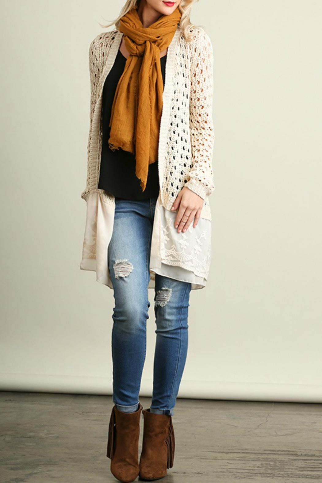 White Lacey Sweater 74