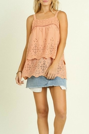 Umgee USA Layered Eyelet Blouse - Product Mini Image