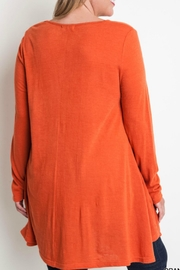 Umgee USA Layered Flared Tunic - Front full body