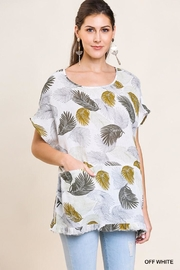 Umgee USA Leaf Print Top - Product Mini Image