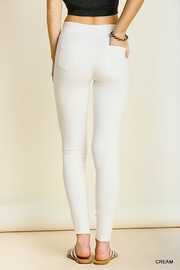 Umgee USA Leggings With Elastic Waistband - Front full body