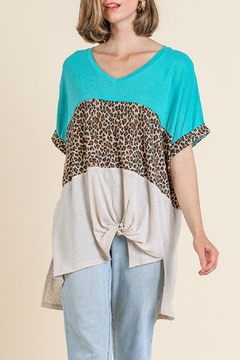 Umgee USA Leopard Colorblocked Top - Product List Image