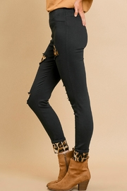Umgee USA Leopard Patchwork Pants - Front full body