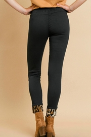 Umgee USA Leopard Patchwork Pants - Back cropped