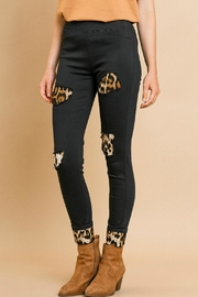 Umgee USA Leopard Patchwork Pants - Product Mini Image