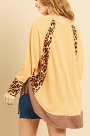 Umgee USA Leopard Waffle Knit - Front full body