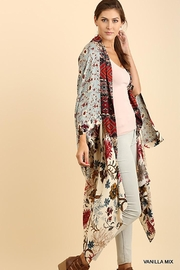 Umgee USA Long Body Kimono Floral Print Design - Other