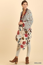 Umgee USA Long Body Kimono Floral Print Design - Back cropped