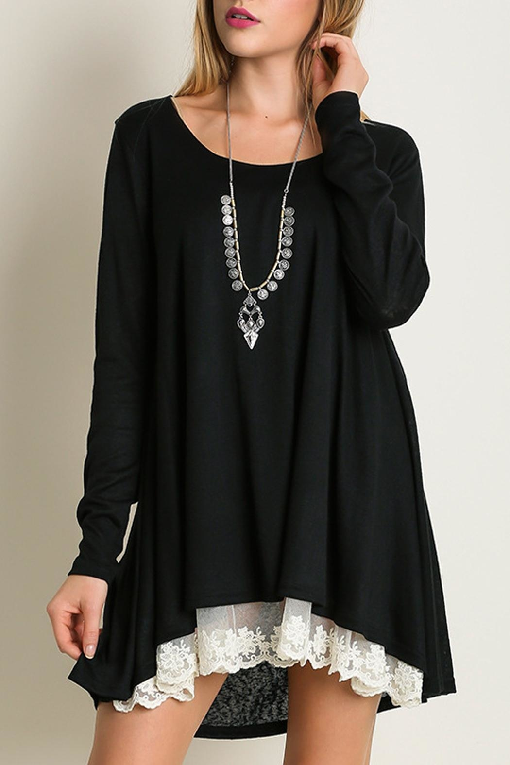 Umgee USA Long Sleeve Dress - Front Cropped Image