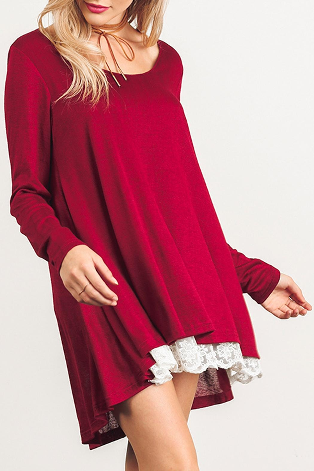 Umgee USA Long Sleeve Dress - Front Full Image