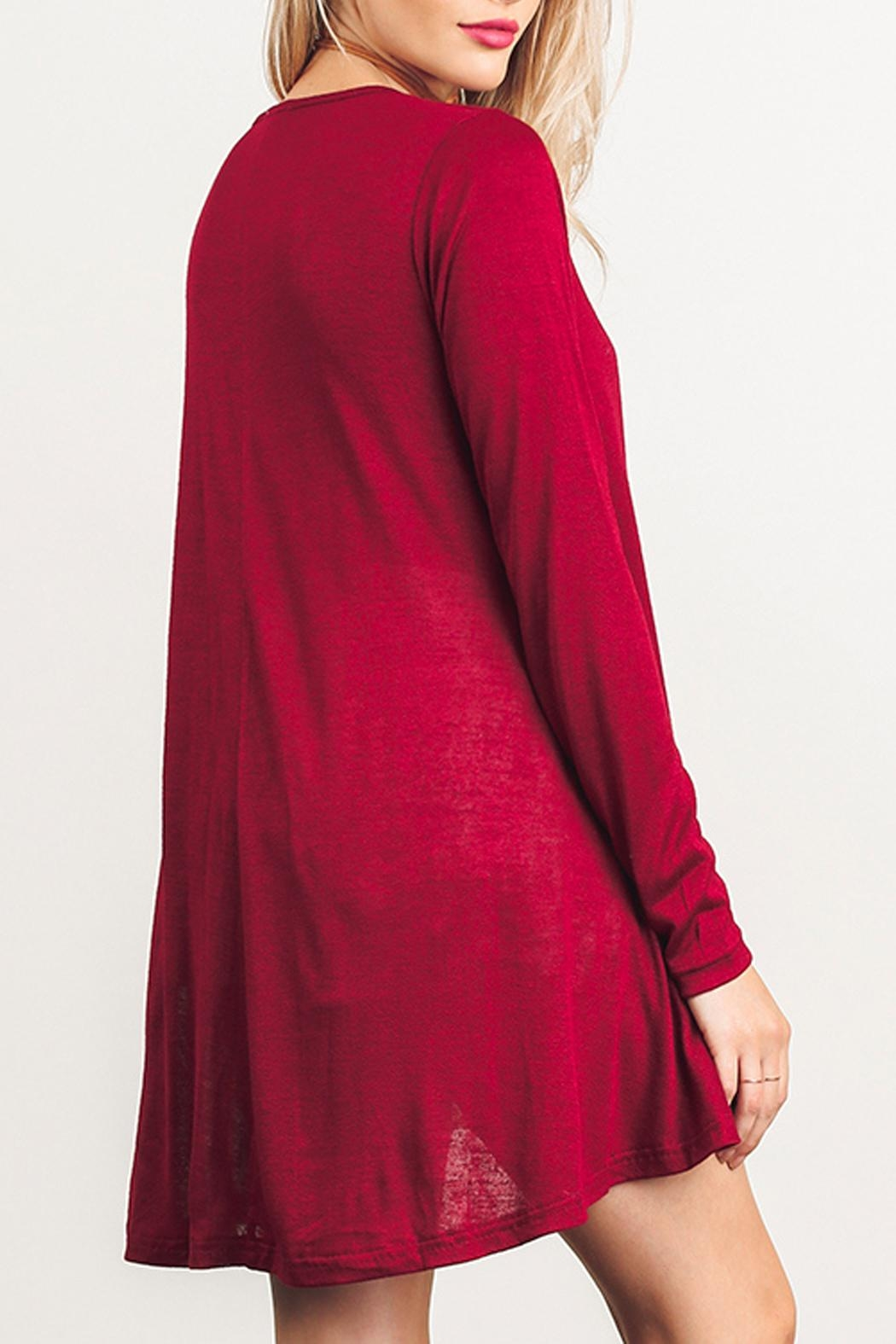 Umgee USA Long Sleeve Dress - Side Cropped Image