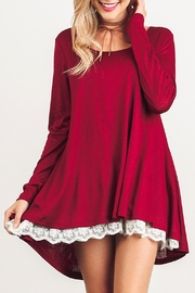 Umgee USA Long Sleeve Dress - Front cropped