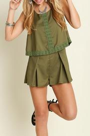 Umgee USA Lovely & Lacey Romper - Front cropped