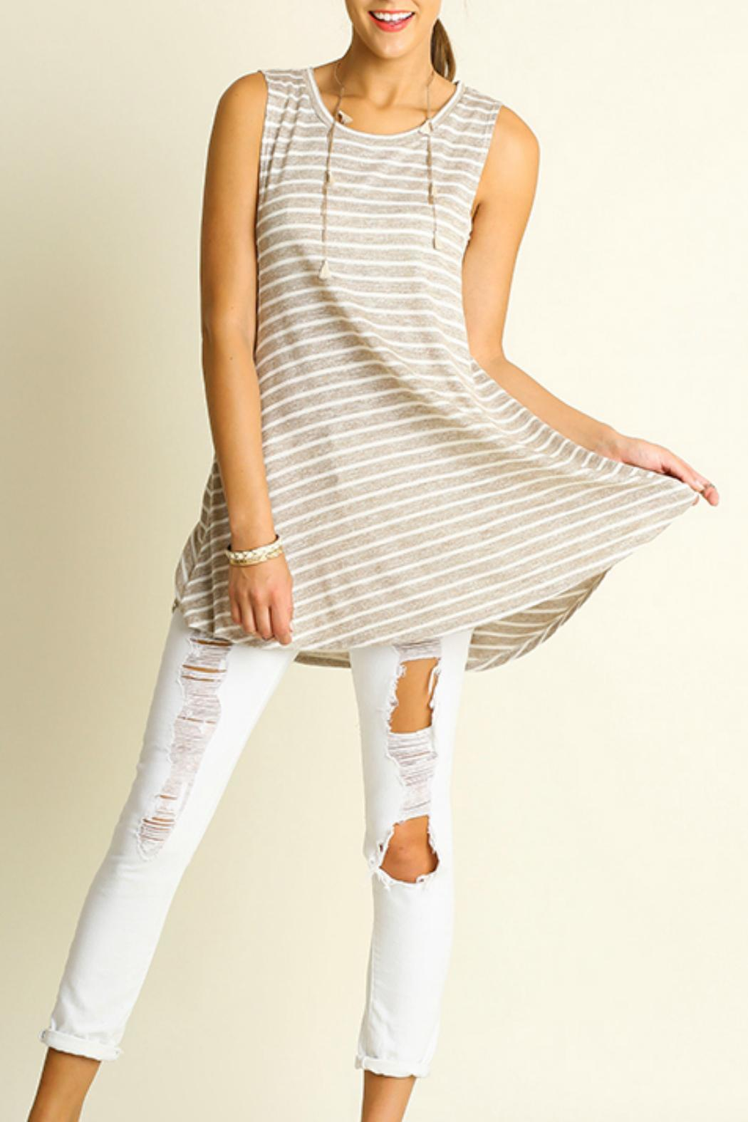 Umgee USA Low Side Tunic - Front Cropped Image