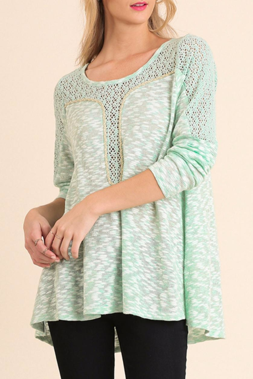 Umgee USA Marled Long Sleeve Top - Main Image