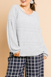 Umgee USA Melange Fleece Top - Product Mini Image