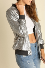 Umgee USA Metallic Zippered Jacket - Product Mini Image