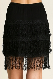 Umgee USA Midi Fringe Skirt - Product Mini Image