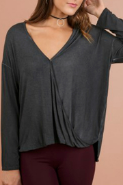 Umgee USA Mineral V-Neck Top - Product Mini Image