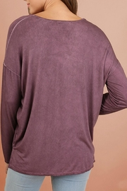 Umgee USA Mineral V-Neck Top - Side cropped
