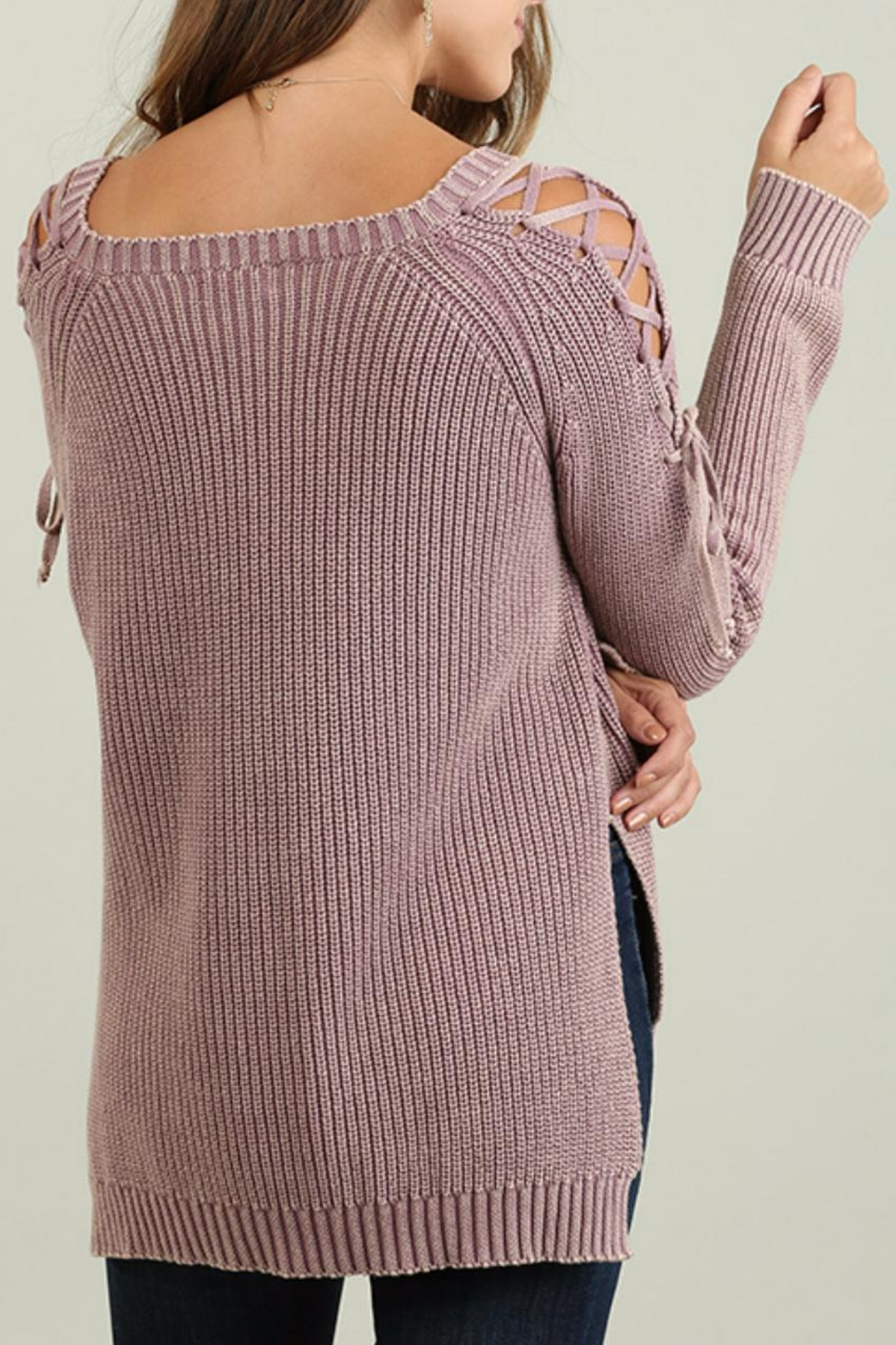 Umgee USA Mineral Washed Sweater - Side Cropped Image