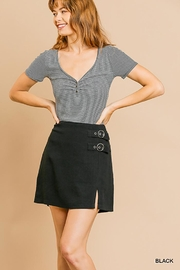 Umgee USA Mini Skirt With Side Buckle - Product Mini Image