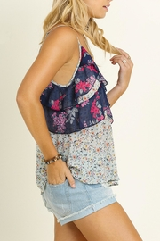 Umgee USA Mint Floral Tank Top - Front full body