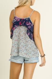 Umgee USA Mint Floral Tank Top - Side cropped