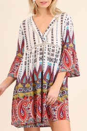 Umgee USA Multi-Color Plus Tunic - Front cropped