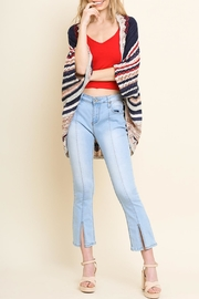 Umgee USA Multi-Colored Striped Cardigan - Product Mini Image